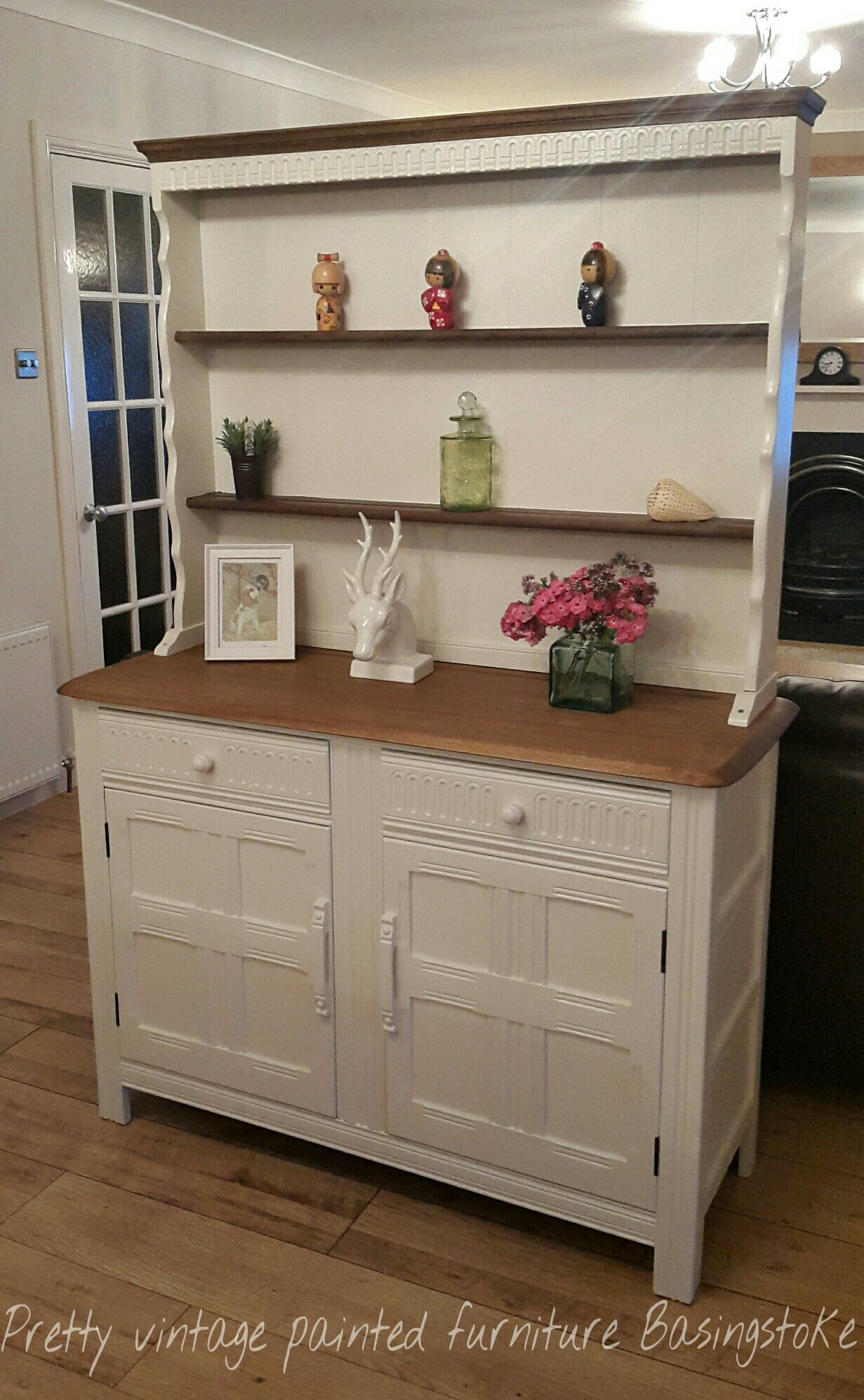 Eggshell Kitchen Cabinets Vintage Priory Painted Welsh Dresser In Farrow Ball Slipper
