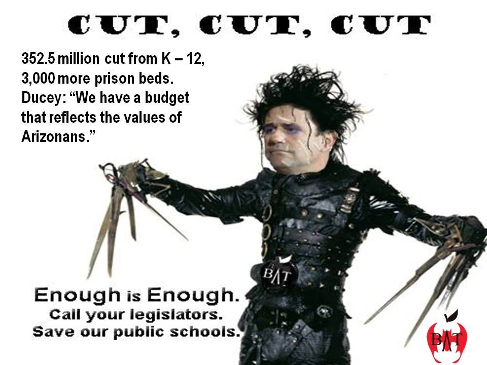 in AZ, the governor is gutting the budget for education