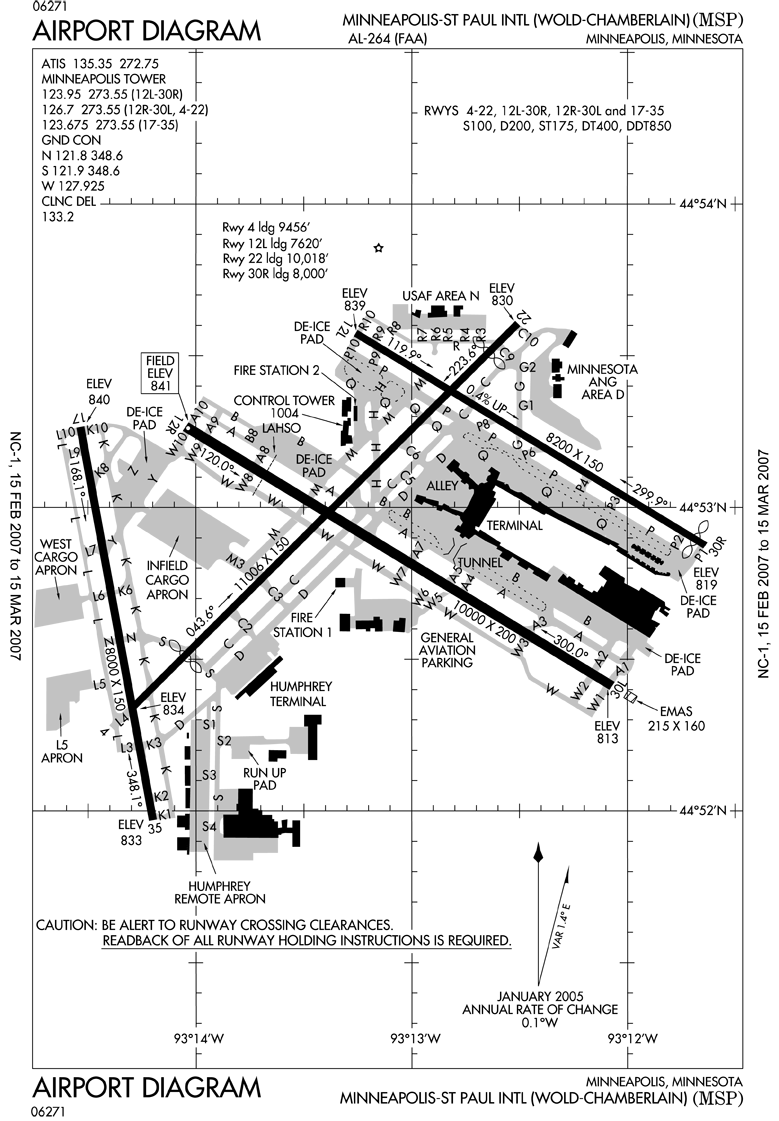 St Paul Traffic Map.Msp Airport Runway Map Airports Airlines Pinterest Aviation