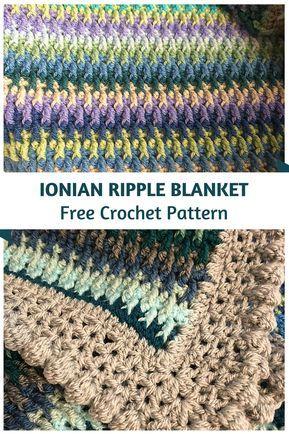 Ionian Ripple Blanket Free Crochet Pattern Knit And Crochet Daily