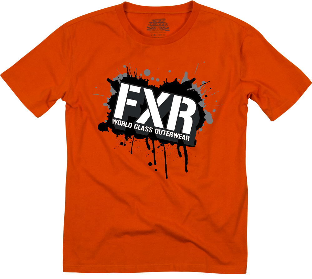 FXR Racing - Snowmobile Gear - Men's/Youth Fury T-Shirt - Orange