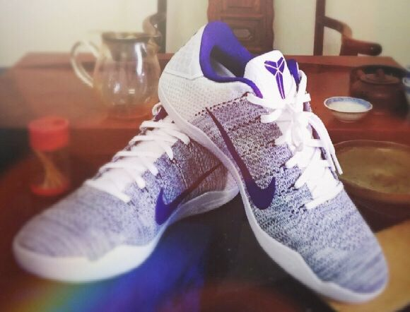 pretty nice 87854 2e560 ... acquired this pair of Kobe 11 NIKE ID customized with ZHONG (忠) which  stands for Loyal on the right foot... Purple White combo with grey  ZOOM   insole.