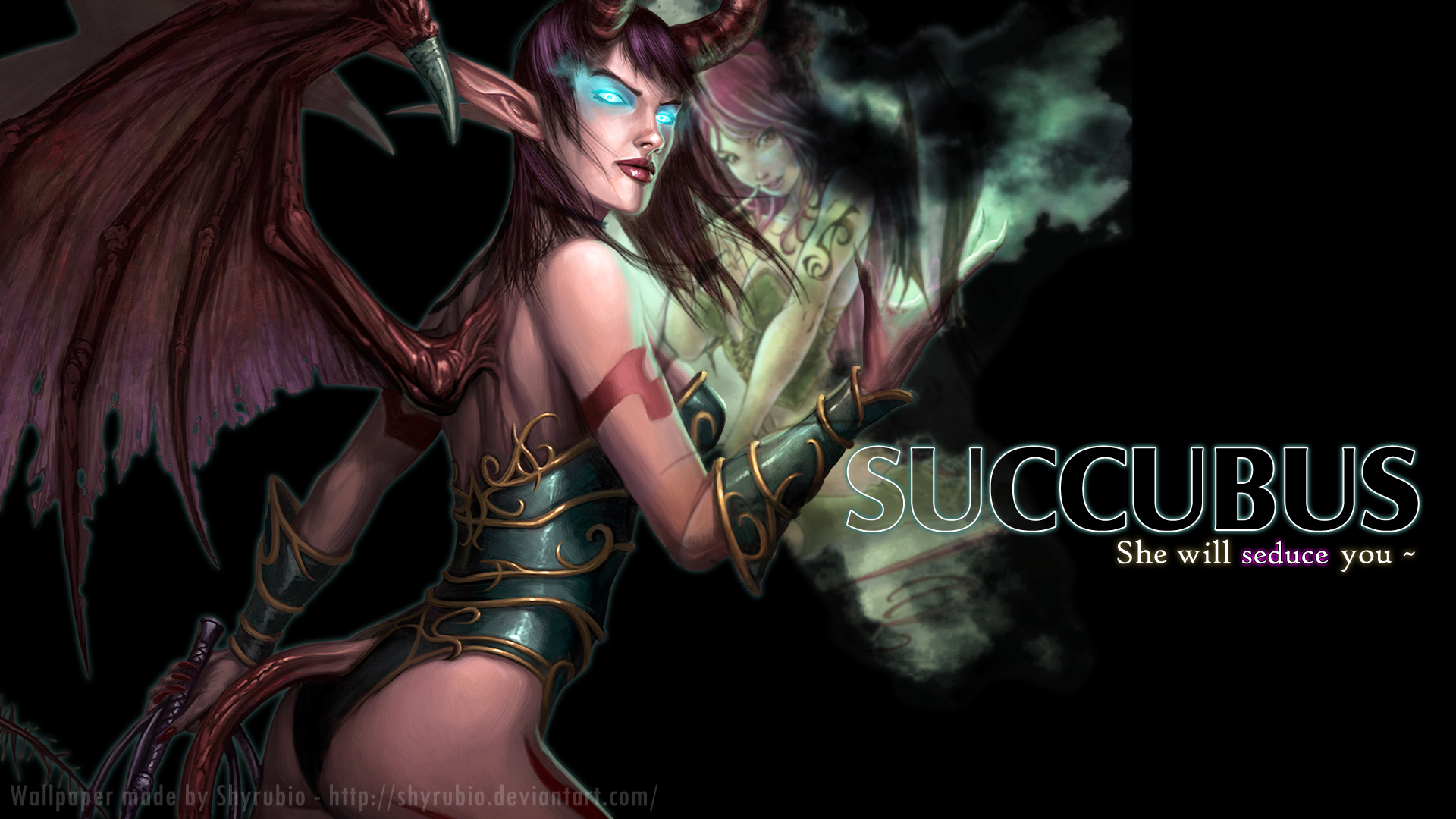 Succubus pictures customization wallpaper fantasy for Deviantart wallpaper
