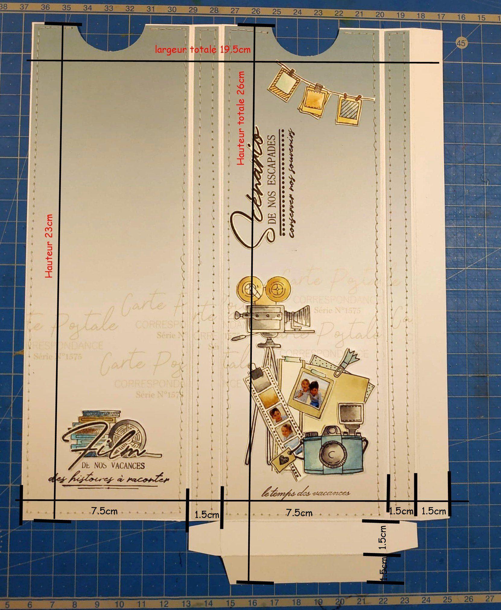 Mini Album Par Claire Scrapathome Collection Carte Postale Chou Flowers Mini Albums Tutoriel De Confection De Mini Album Carte Postale