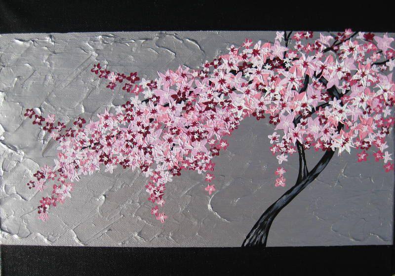 Cherry Blossom Mural Japanese Tree Wall Seattle Tree Mural Blossom Trees Cherry Blossom Tree