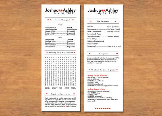 are wedding programs required ask emmaline wedding party