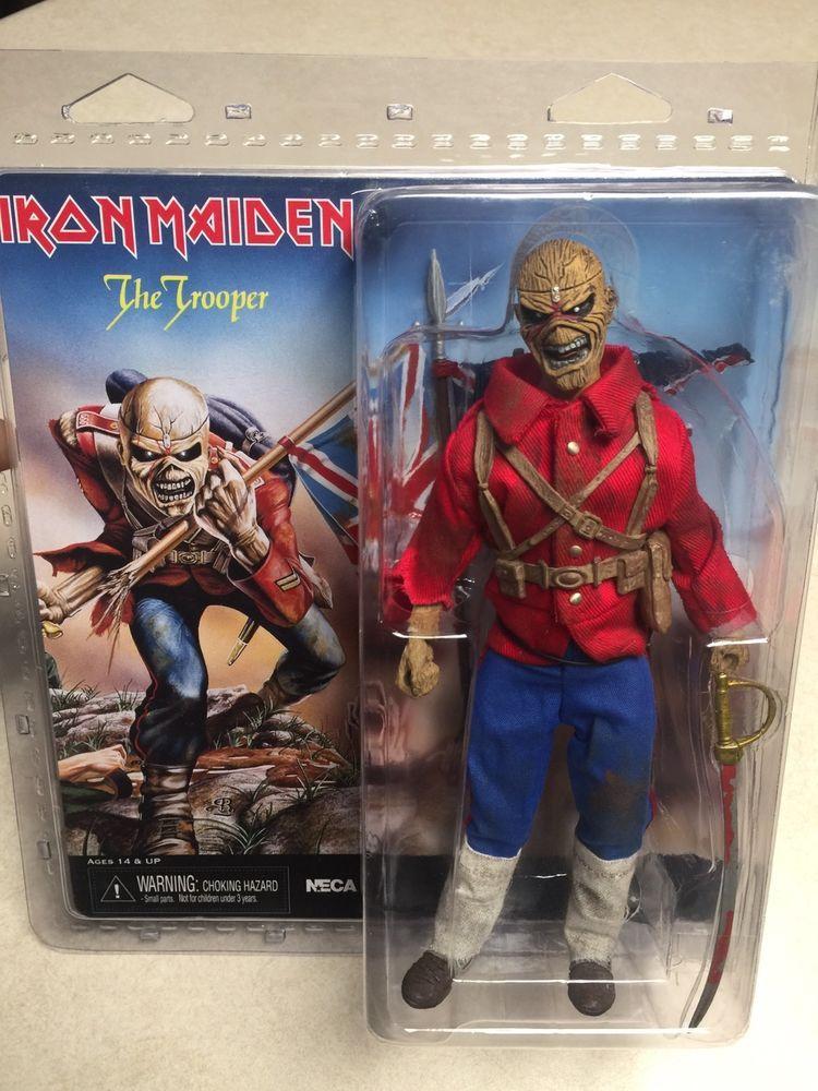 neca iron maiden trooper eddie metal mascot union jacket clothed rh pinterest com