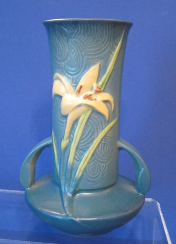 Roseville Zephyr Lily Vase 131 7 Blue Pottery Pinterest