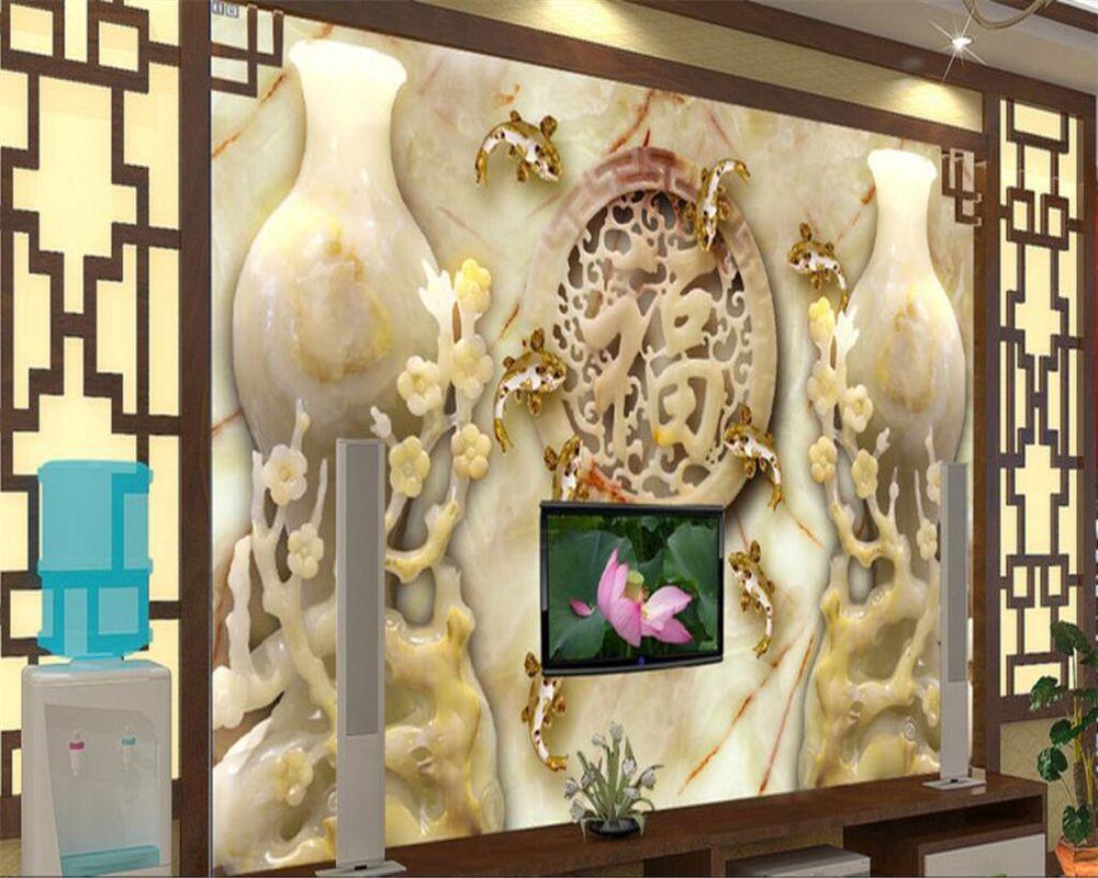 Beibehang Custom Wallpaper Home Decorative Murals Living Room Plum ...