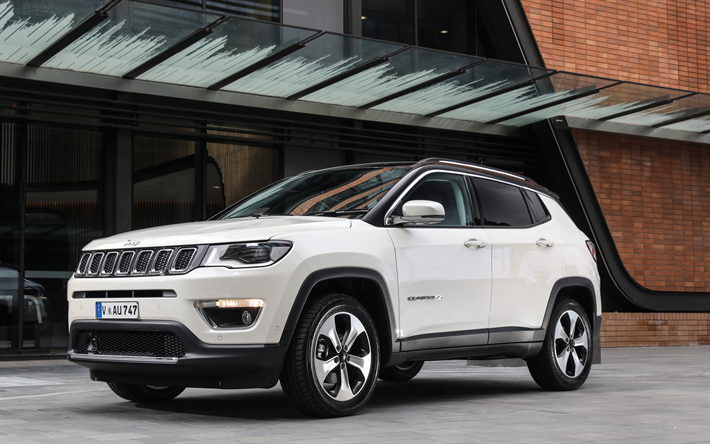 Download Wallpapers Jeep Compass 2018 New Suv White Compass 2018 American Cars Jeep Jeep Compass New Suv Jeep Suv