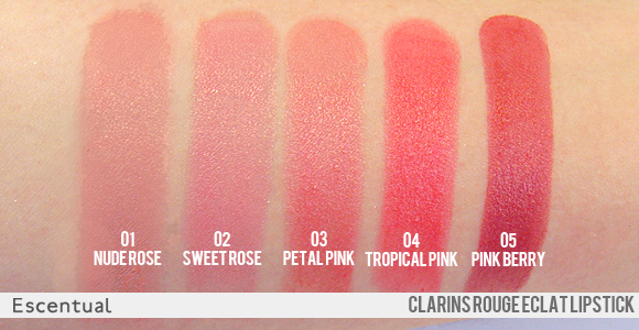 b660e5b1 Clarins Rouge Eclat Lipstick Swatches | Makeup | Lipstick swatches ...