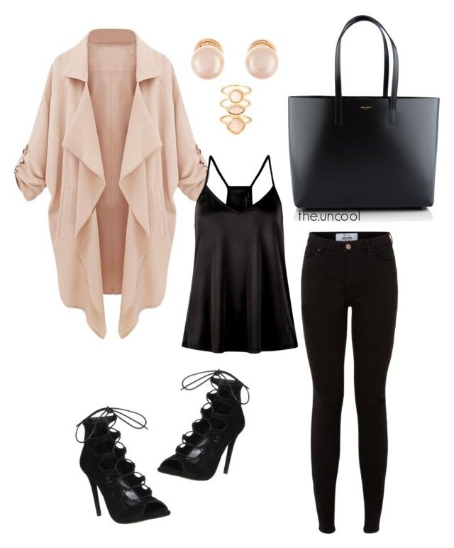 """""""Untitled #12"""" by the-uncool-collective on Polyvore featuring Office, Yves Saint Laurent, Kenneth Jay Lane and Monsoon"""