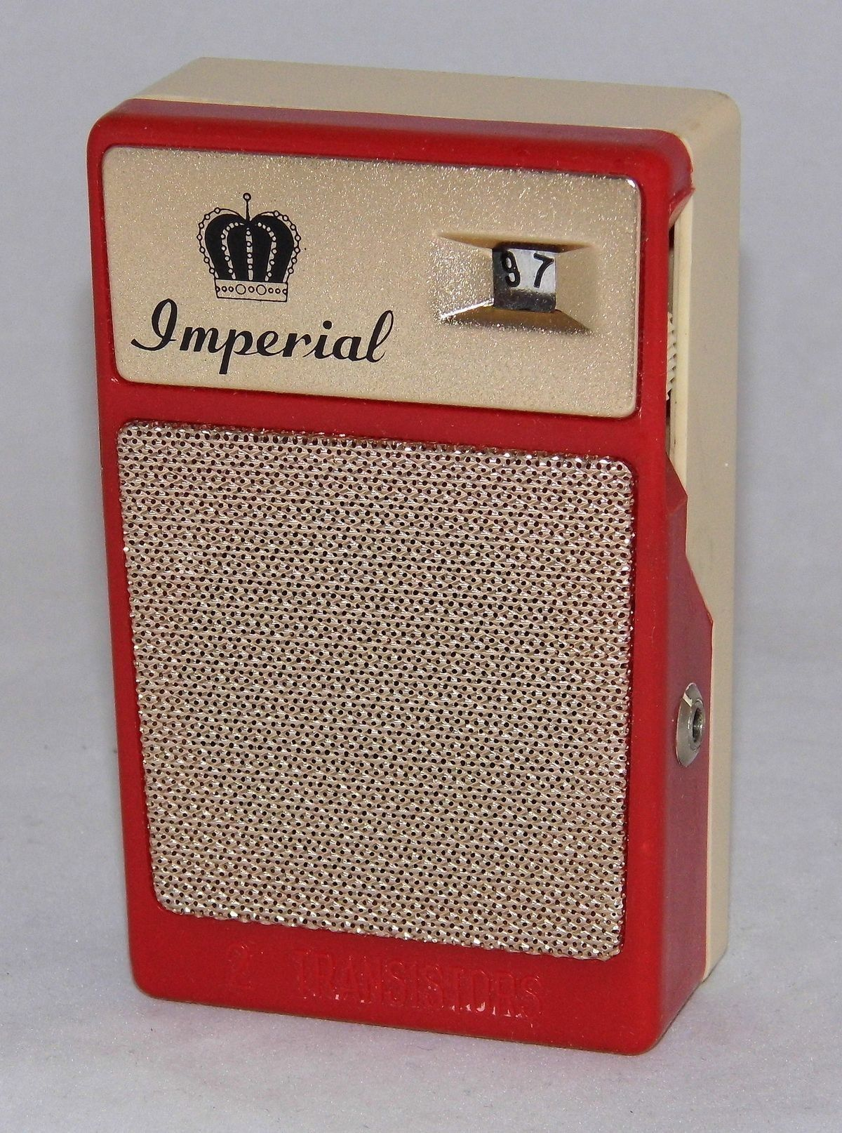 Imperial Am Two Transistor Radio Made In Japan1960s Vintage Atomic Frequency Standard