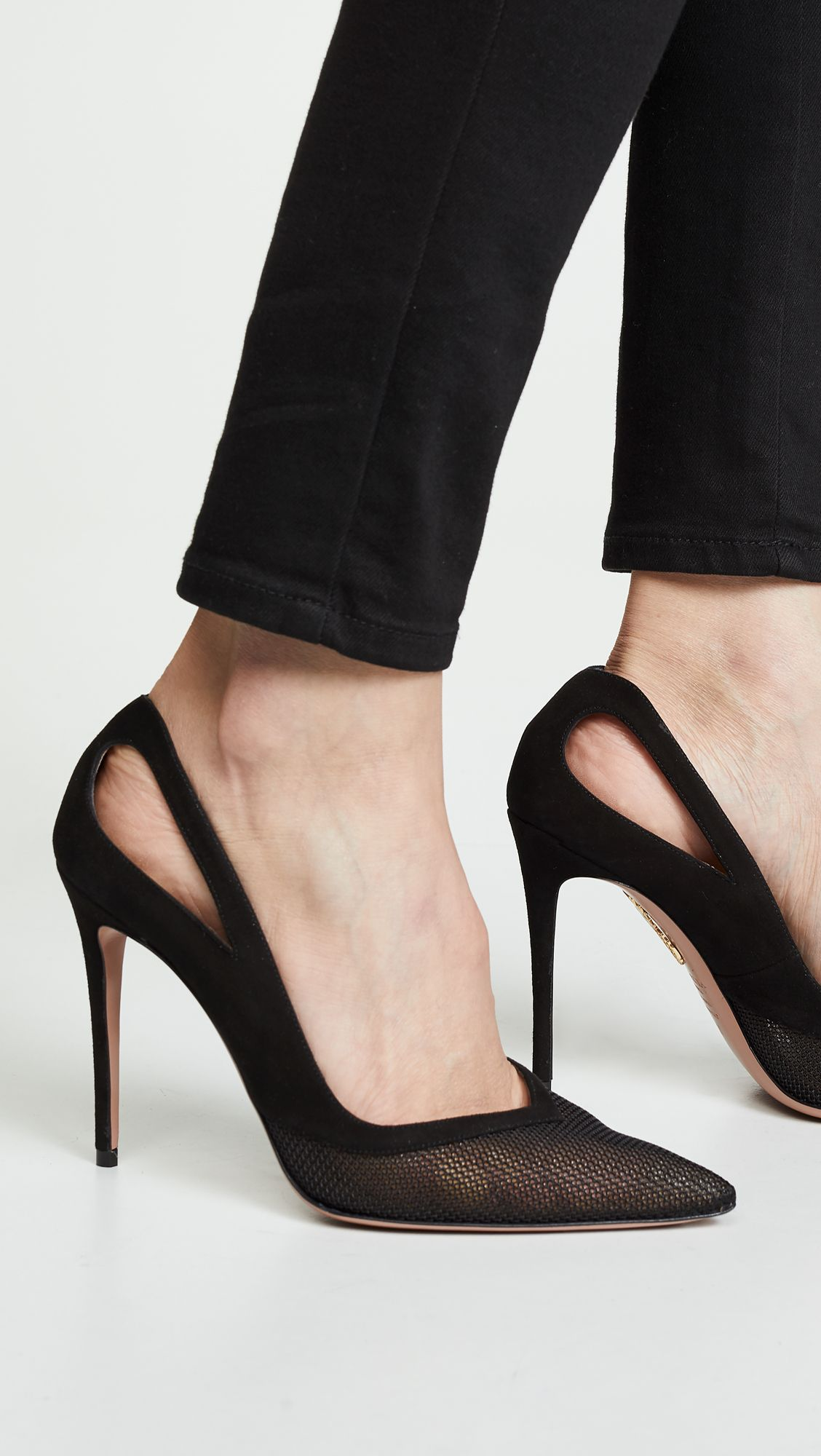 237013efa3 Shiva Mesh Pumps in 2019 | S/S 2019 | Aquazzura, Heels, Stiletto heels