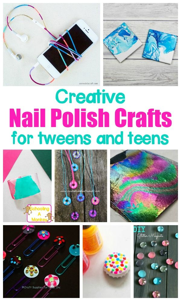 Colorful and creative nail polish crafts for kids nail for Nail polish crafts
