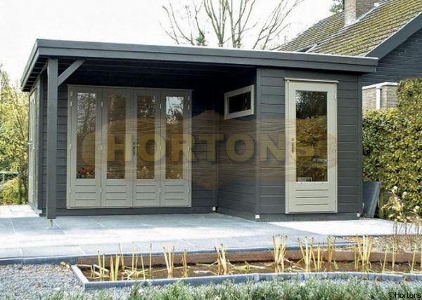 L shaped pent roof sheds Google Search Garden cabins