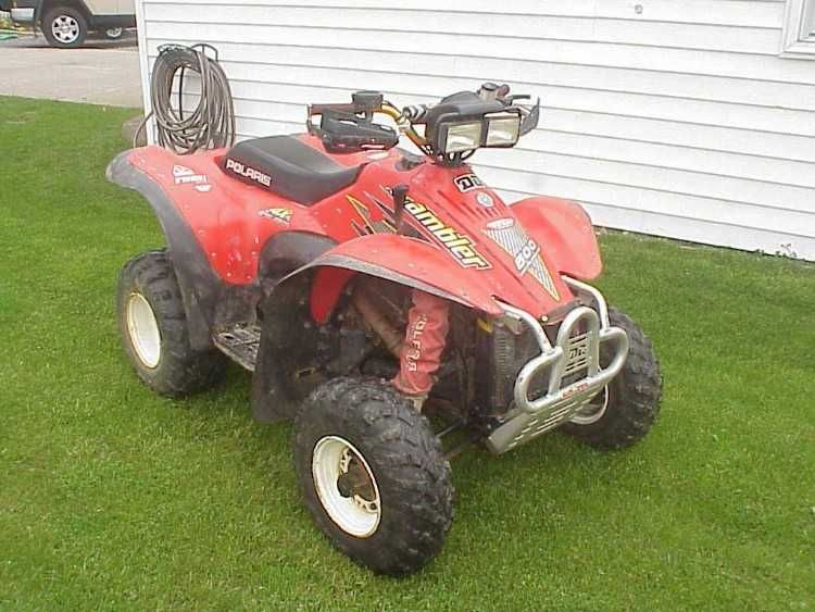 Nice 2000 Polaris Scrambler 500 2c 4wd Electric Start 2c With Speedometer Kit Installed Just Serviced Fresh Synthetic Fluids 2c New Brake P Scrambler 4x4 Atv