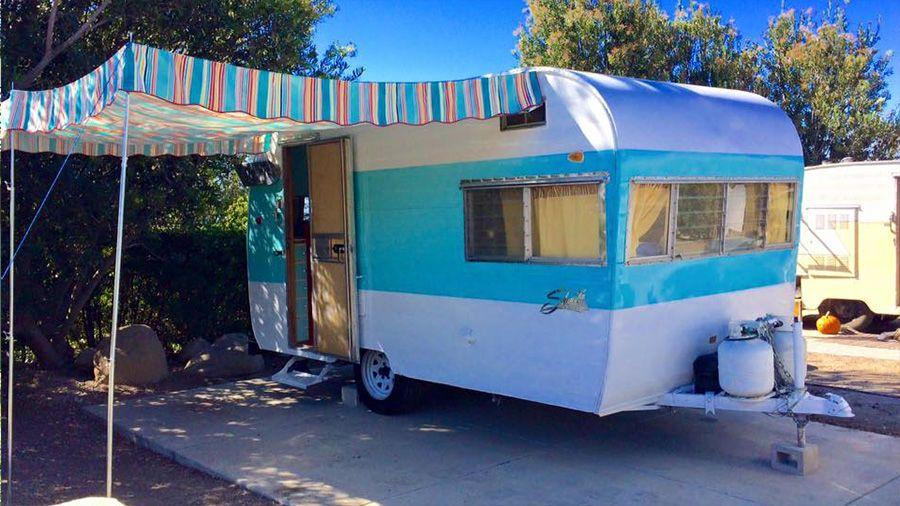 Vintage Trailer Awnings Other Glamping Fluff By Pink Flamingo