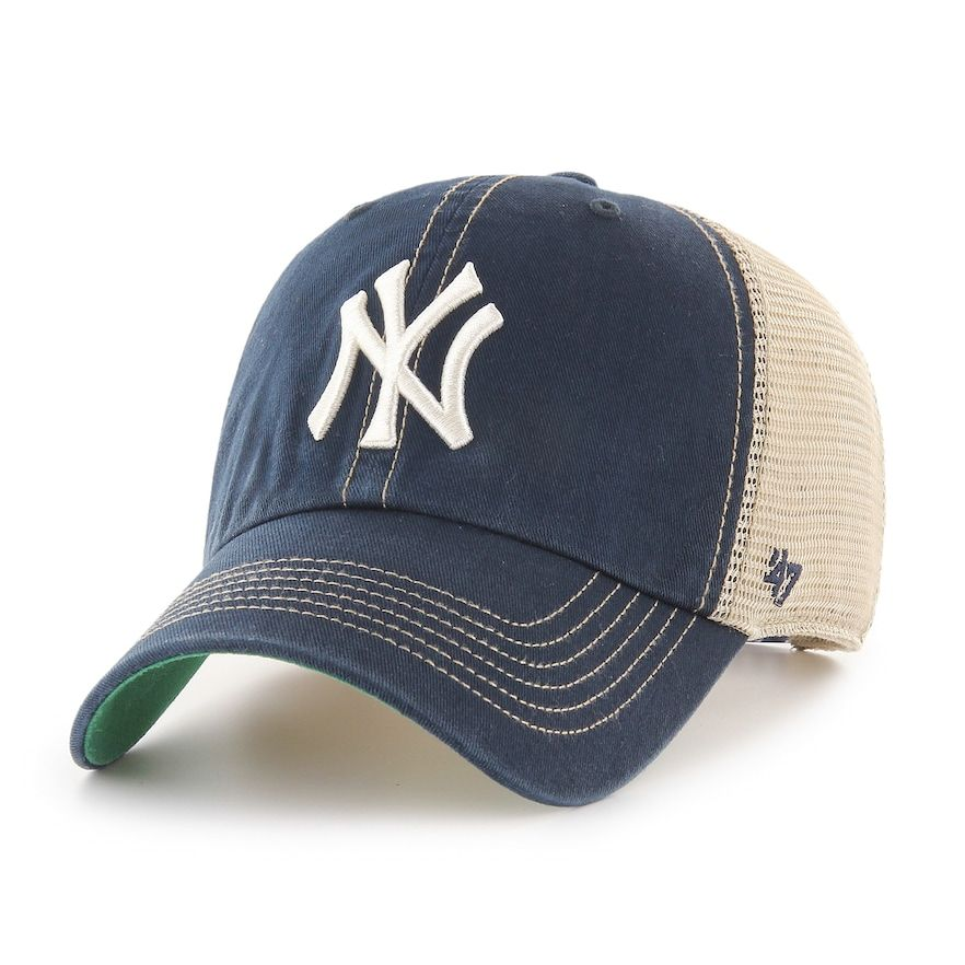 timeless design b8017 2d215 Adult 47 Brand New York Yankees Trawler Clean Up Hat, Men s, Blue (Navy)