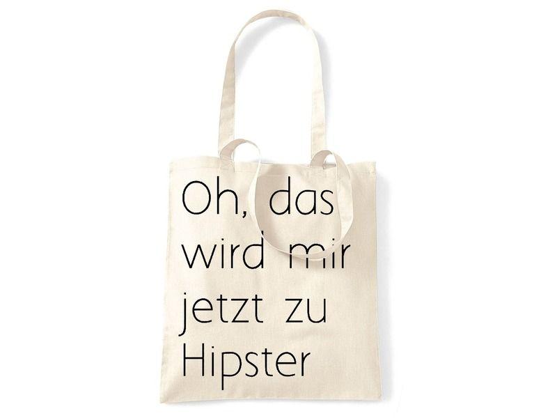 Jutebeutel - Jutebeutel zu Hipster - ein Designerstück von -CIRCULAR- bei DaWanda