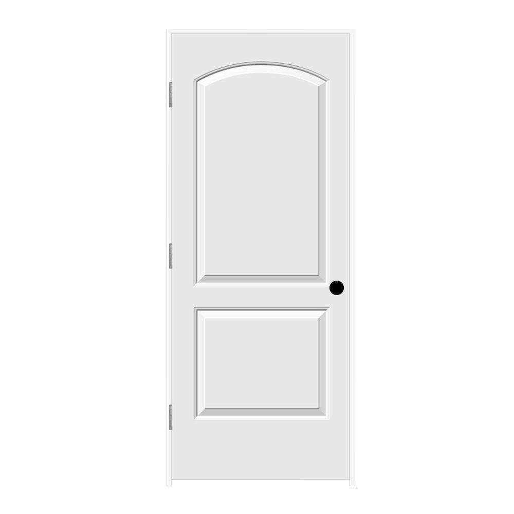 Jeld Wen 32 In X 80 In Continental Primed Left Hand Smooth Solid Core Molded Composite Mdf Single Prehung Interior Door Thdjw137000612 Prehung Interior Doors Craftsman Interior Doors Prehung Doors