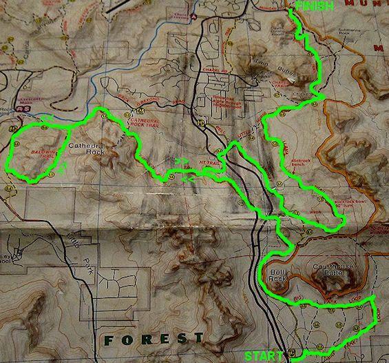 Sedona Arizona Mountain Biking Trail Map Mountain bike