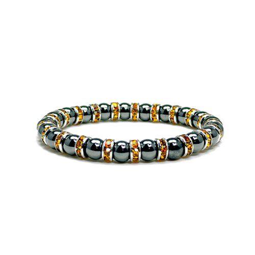 Accents Kingdom Women's Magnetic Hematite Tuchi Simulated Pearl Bracelet hdgVxVF