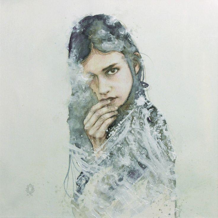 "Saatchi Art Artist: Oriol Angrill Jordà; Paper  Painting ""CLOUDY EYE | blendsacpes"""