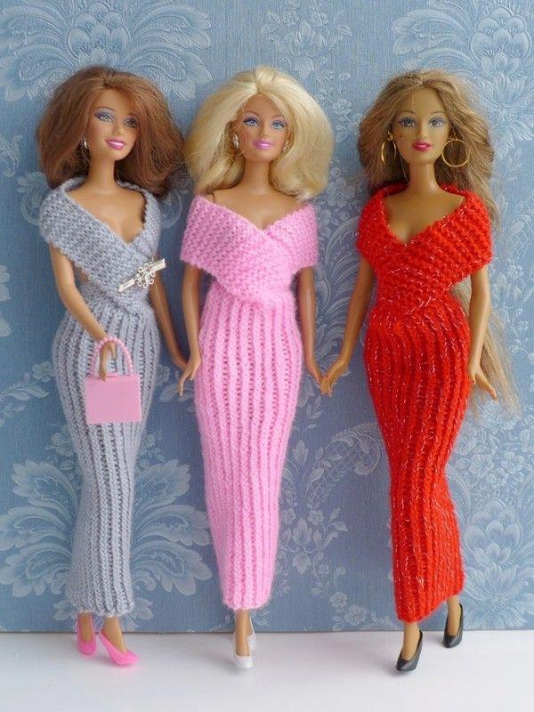 Strickanleitung - Elegantes Abendkleid für kleine Puppen | barbies ...
