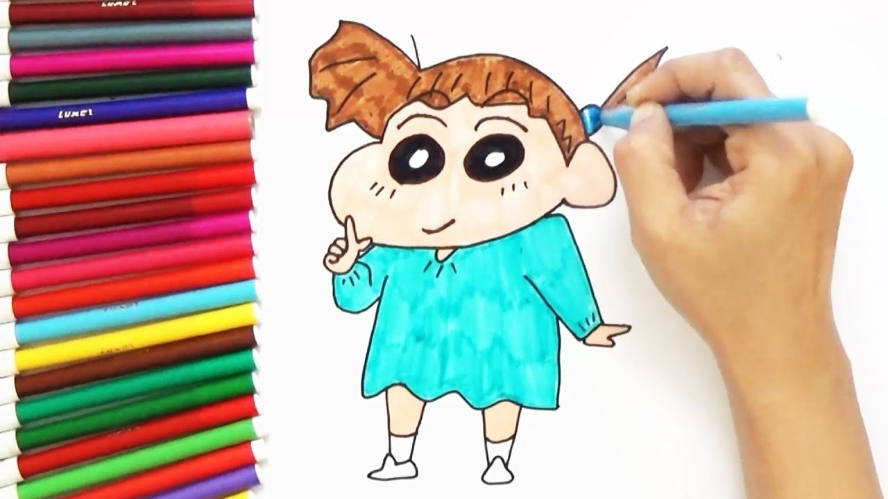 How To Draw Nene From Crayon Shin Chan For Kids D4k How To Draw