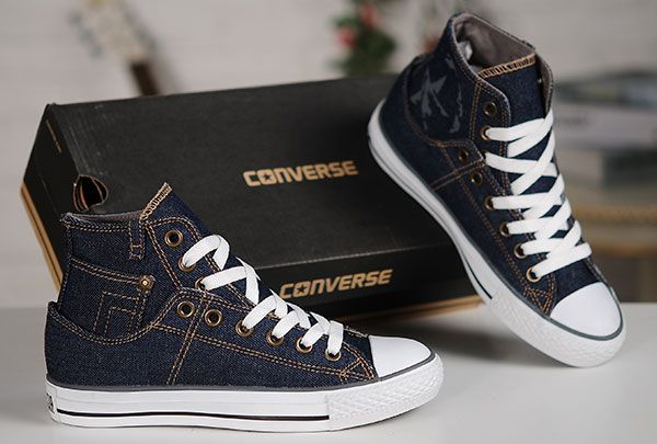 2015 Retro Converse Blue Jeans Style Denim High Tops Chuck Taylor All Star  Sneakers  converse  shoes 1a07540d6