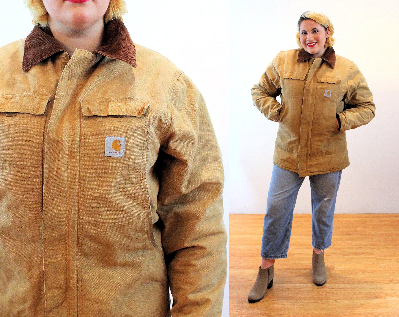90s Carhartt Chore Coat Xl Xxl Distressed Unisex Vintage Tan Etsy Carhartt Chore Coat Chore Coat Work Wear [ 2300 x 2900 Pixel ]