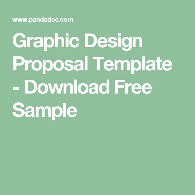 Graphic Design Proposal Template Download Free Sample Proposal