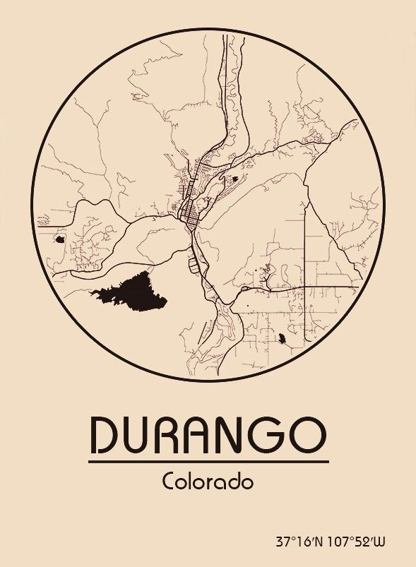 Durango Map on
