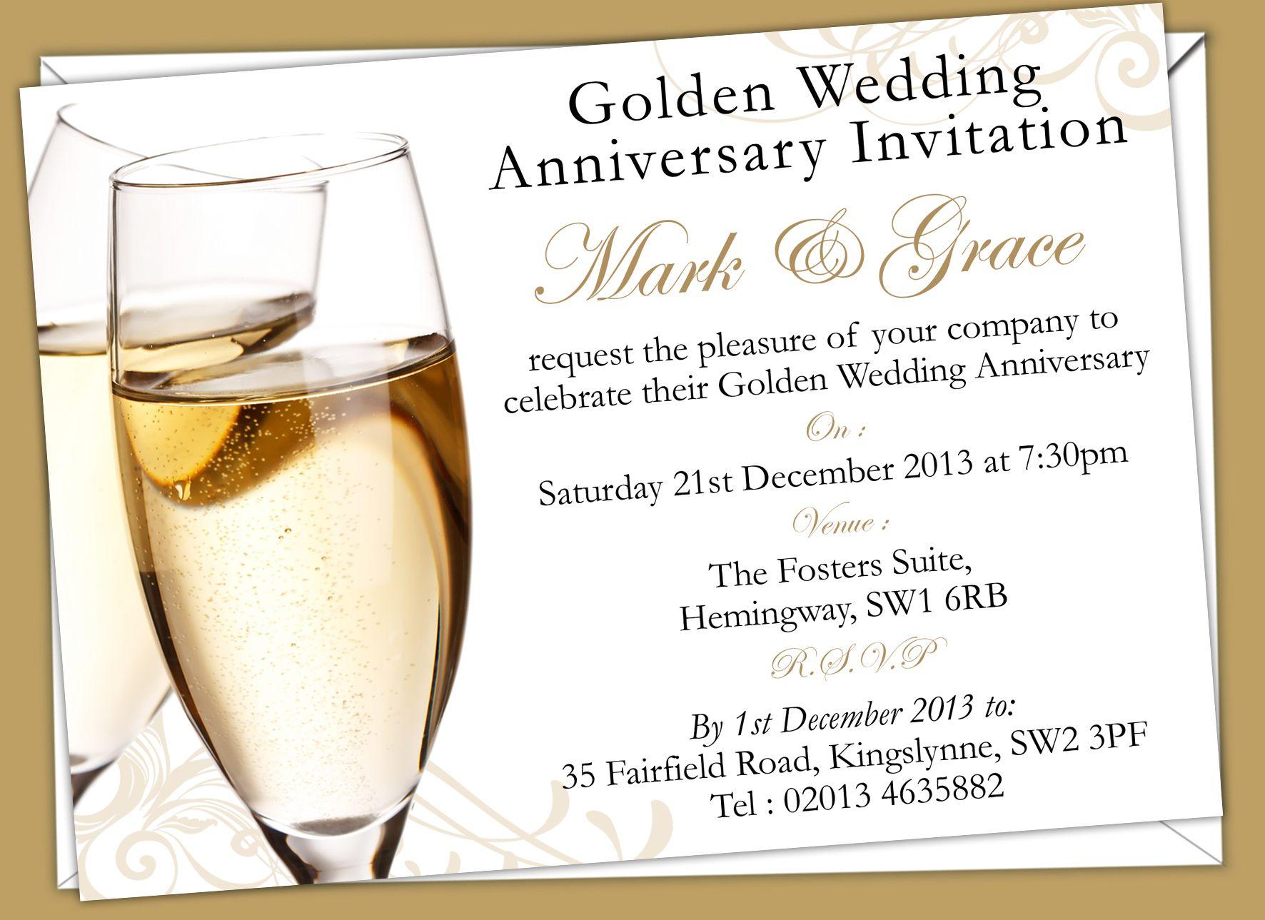 Golden Wedding Anniversary Invitations Prices Start From 6 50 Golden Wedding Anniversary Invitations Wedding Anniversary Invitations Anniversary Invitations