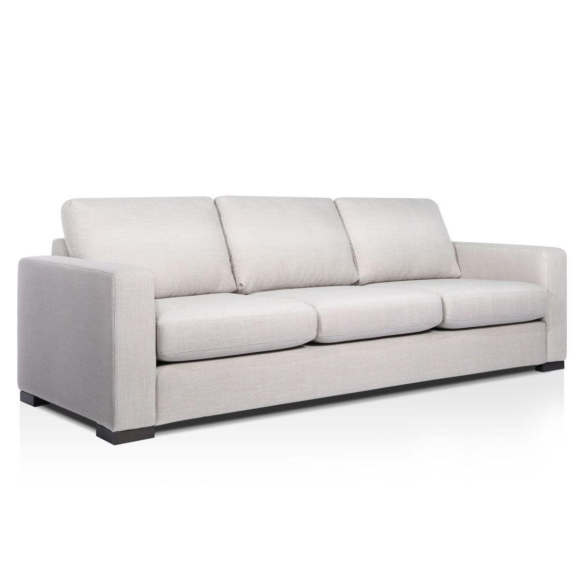 Signature Contemporary 3 Seat Fabric Sofa Standard Sofa Fabric