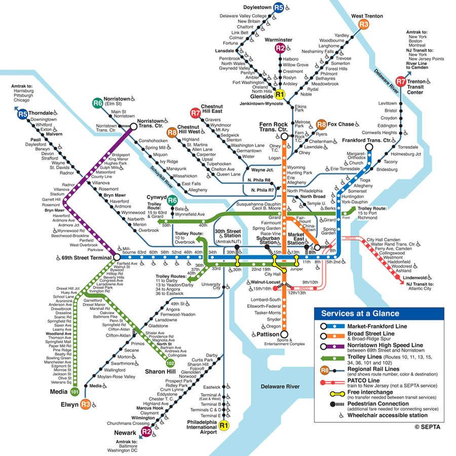 philadelphia subway system map Philadelphia Train Map Transit Map Subway Map philadelphia subway system map