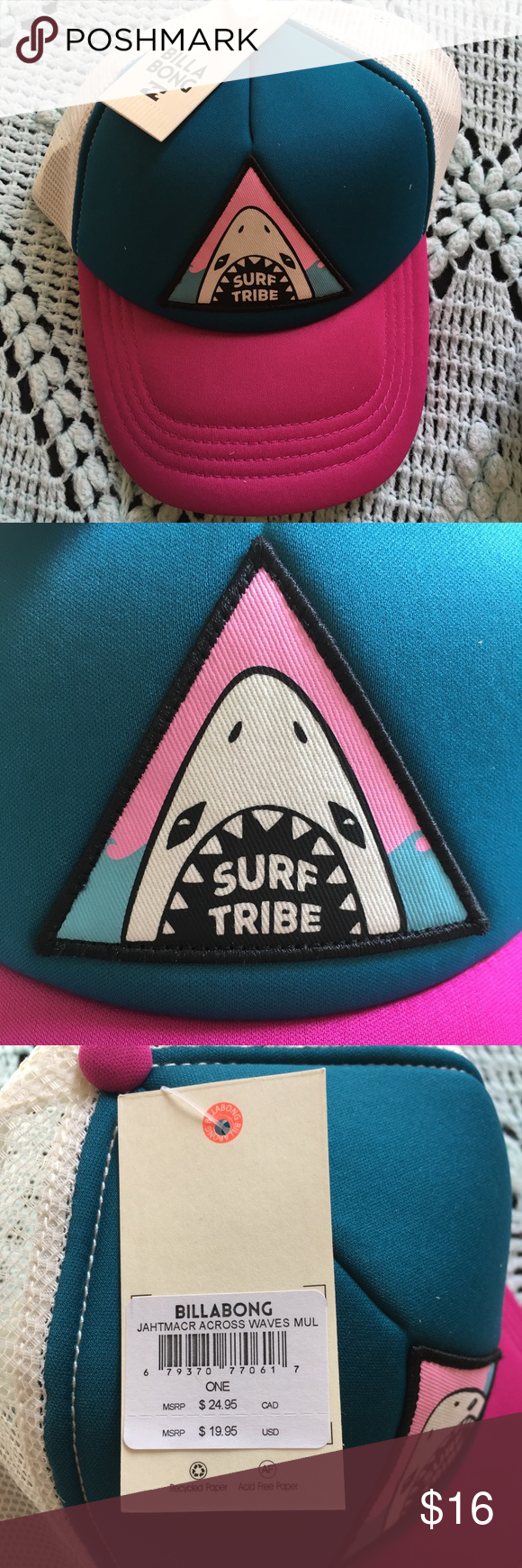2c8f657b948250 ... italy surf tribe trucker hat new tag is still attached. 55 c10be bc42a