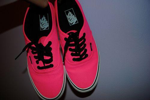 i need some hot neon pink VANS....