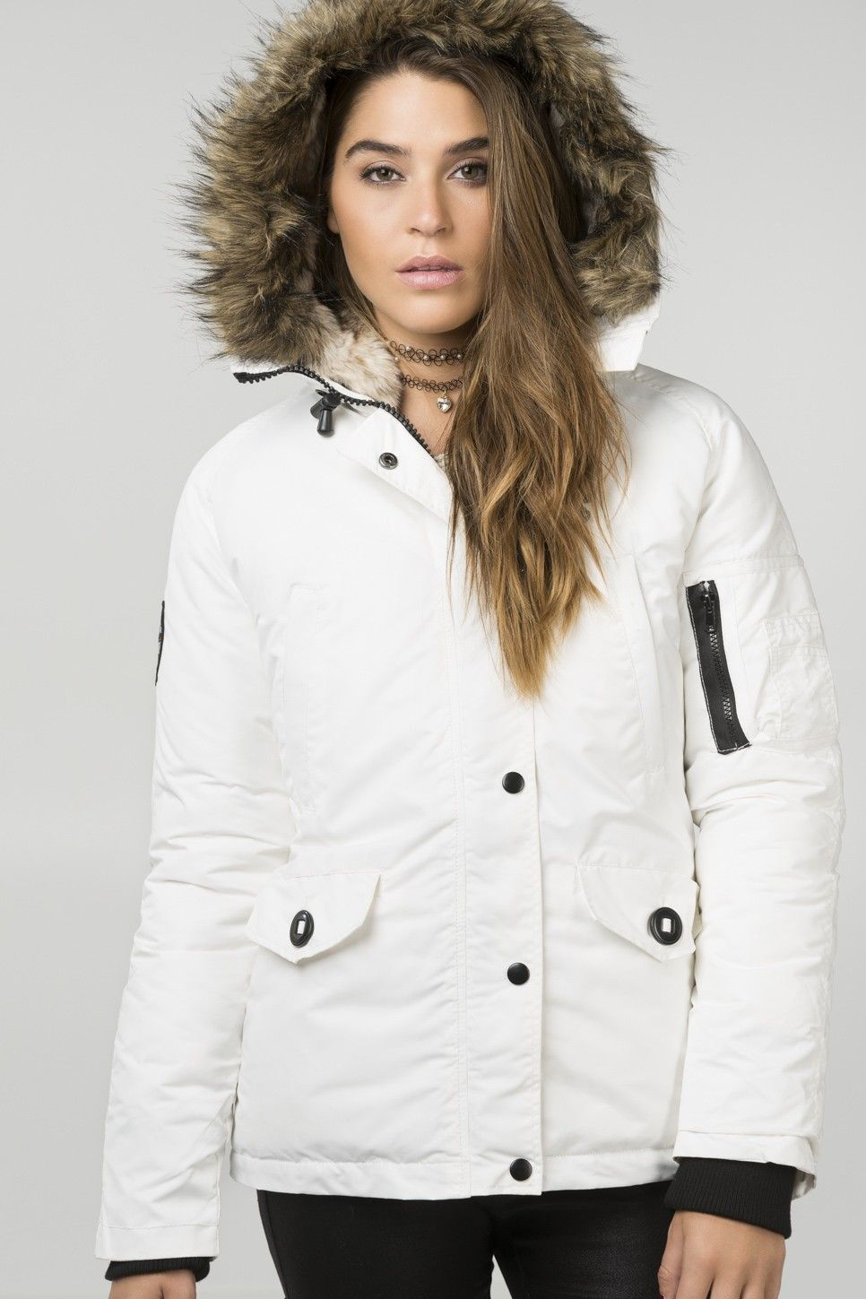 82 North white winter jacket | Ardene | Pinterest | Cold weather ...