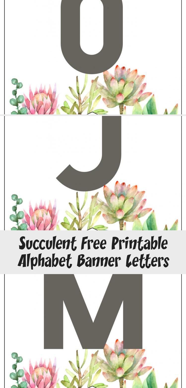 Succulent Free Printable Alphabet Banner Letters. Cute ...