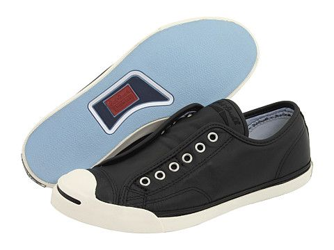 1ce35f950c2a7e Converse Jack Purcell® Low Profile Slip Black Egret Leather - Zappos.com  Free Shipping BOTH Ways
