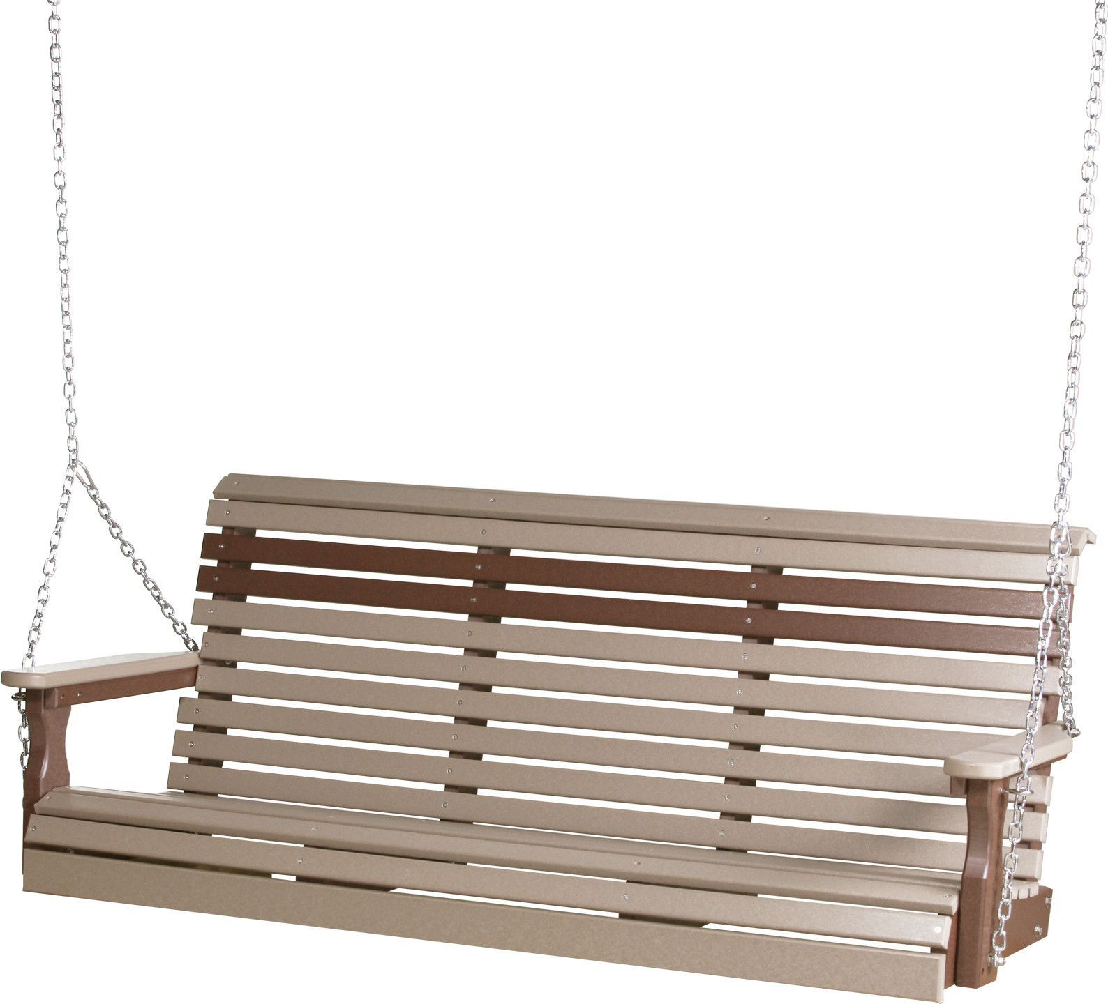 Luxcraft rollback ft recycled plastic porch swing porches porch