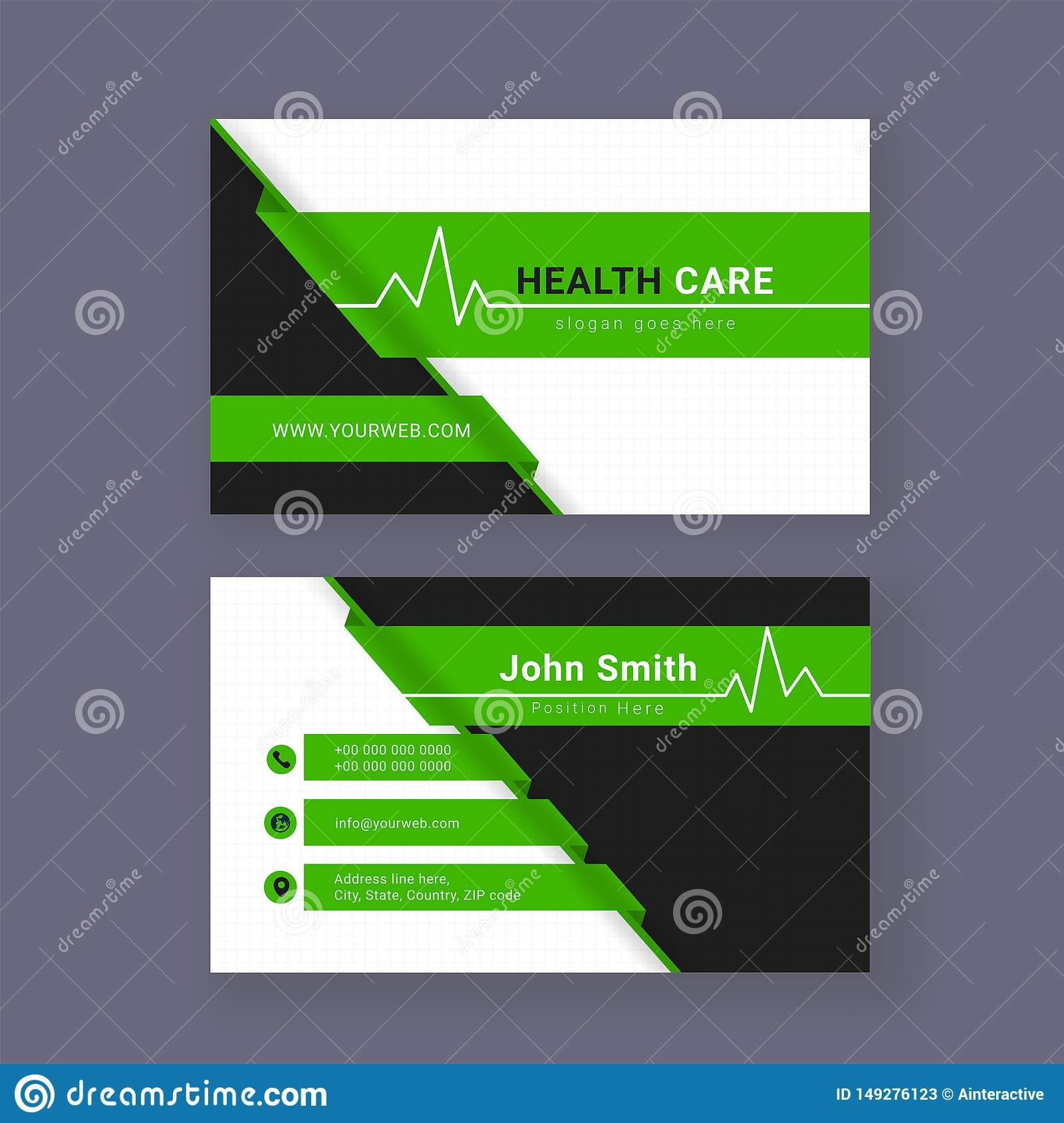 Medical Business Card Or Visiting Card Stock Illustration Intended For Medical Business Cards Te Medical Business Card Business Card Template Medical Business