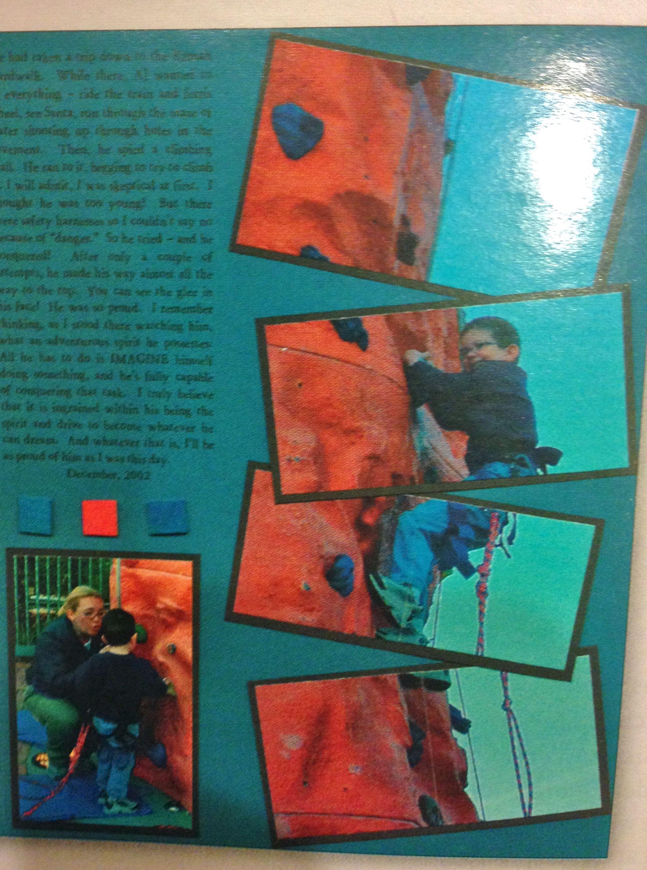 Scrapbook Page | Mountain Climbing