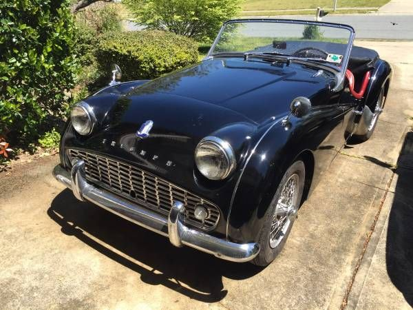 1961 triumph tr3a 22 500 charlotte nc forsale craigslist britishcars auctions and for. Black Bedroom Furniture Sets. Home Design Ideas