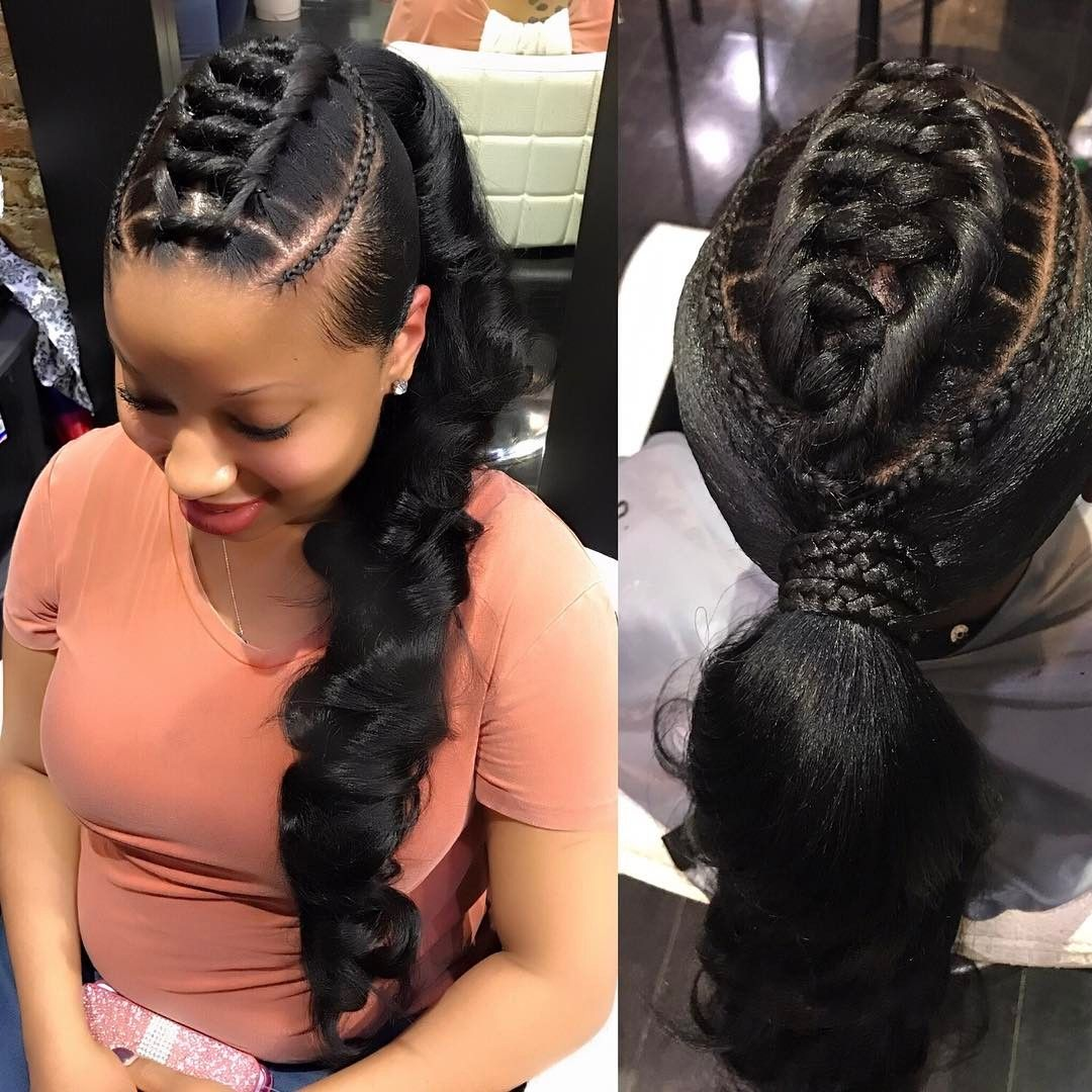 5 Dependable Wedding Hairstyles For Black Women At 30: This Braided Ponytail Is GORGEOUS @yaya146 VoiceOfHair.com