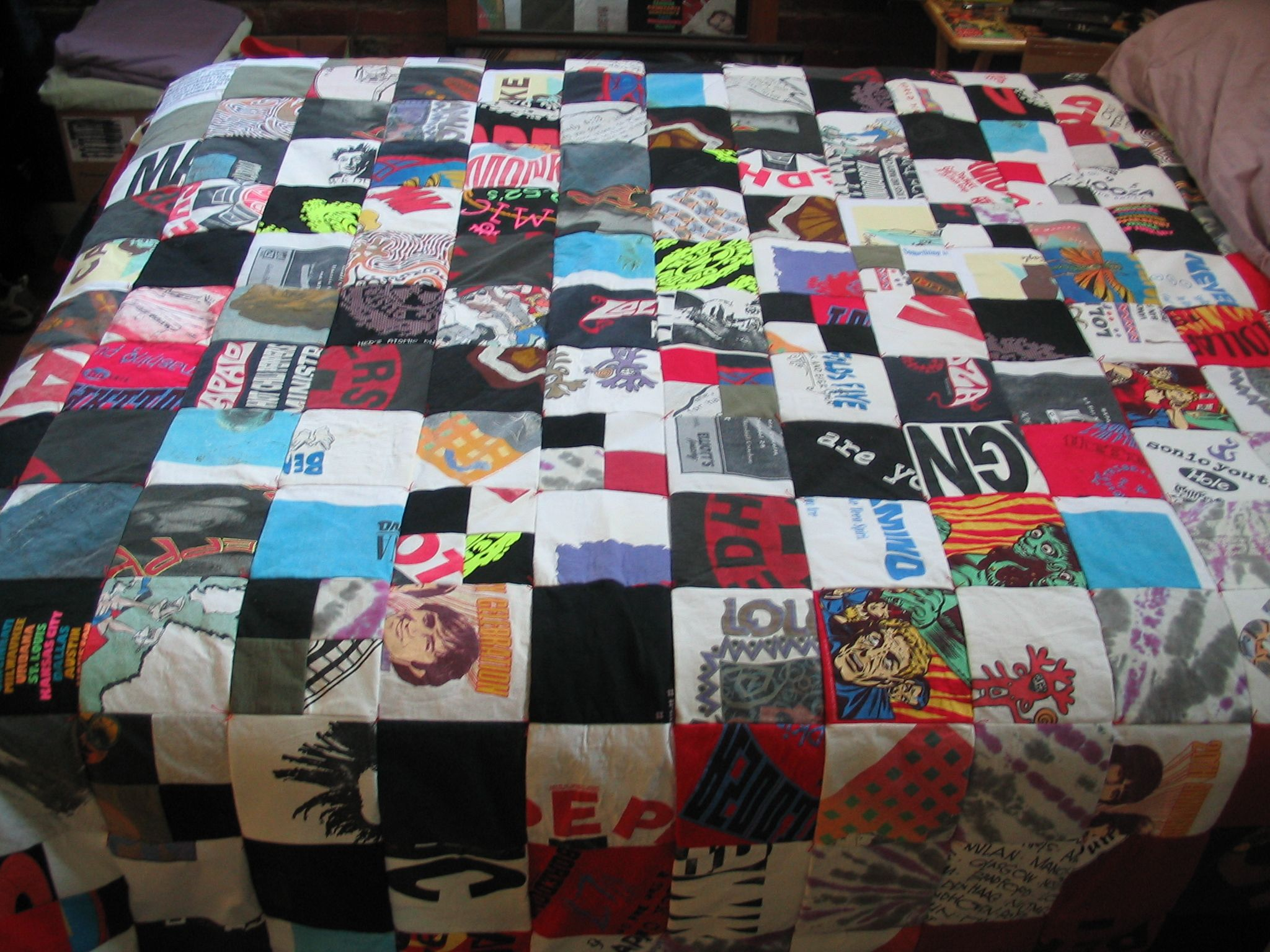 quilt made from old tshirts | Have To Try This | Pinterest | Shirt ... : pinterest t shirt quilt - Adamdwight.com