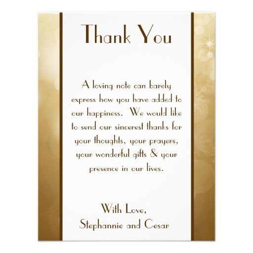 Wedding Thank You Wording Examples