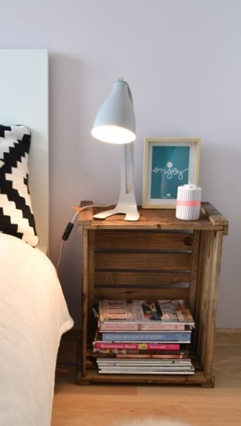 Intégrer des caisses en bois dans la déco de la chambre à coucher 20 idées
